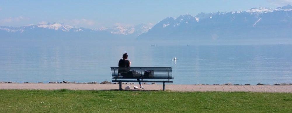 Entspannen am Bänkli am Genfersee